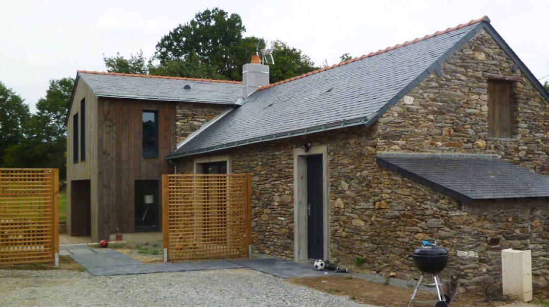 Long re pierre et bois la chapelle sur erdre for Agrandissement longere