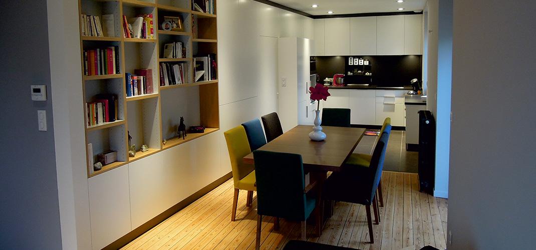 Cuisine ouverte sur le séjour - ADA - ArchiDesigner Associés - Architecture & Design