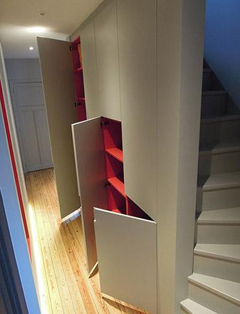 Design intérieur / aménagement d'une maison individuelle - Escalier et placards ADA