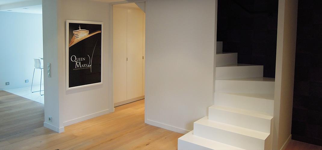 Aménagement intérieur - Carquefou (44) - Escalier et redistribution de l'espace - Archidesigner Associés