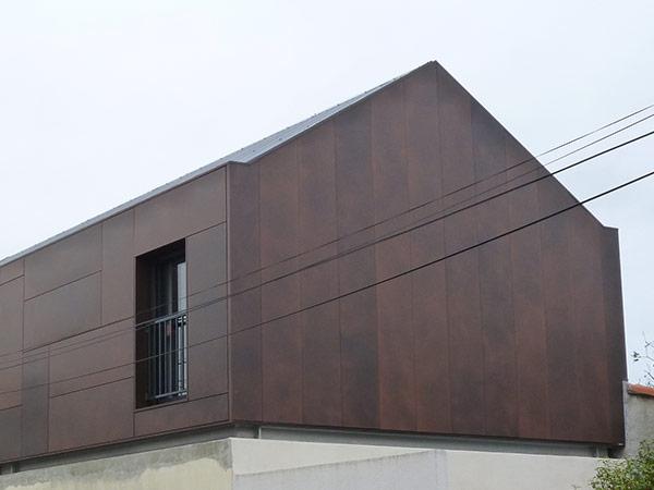 Architecture - Extension maison Rezé - Élévation métal - Archidesigner Associés