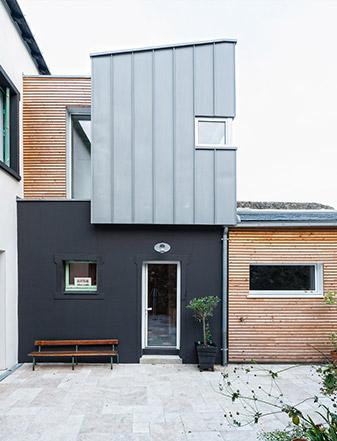 Rénovation maison le Pellerin (44) - Architecture et design d'intérieur - Archidesigner Associés - Vue de la cour intérieure