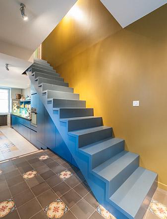 Rénovation maison le Pellerin (44) - Architecture et design d'intérieur - Archidesigner Associés - Escalier intérieur