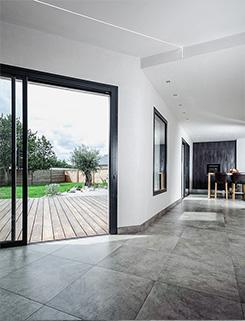 Vue intérieure - BBC & monomurs - Construction d'une maison labelisée BBC-Effinergie - La Chapelle-sur-Erdre - Archidesigner Associés