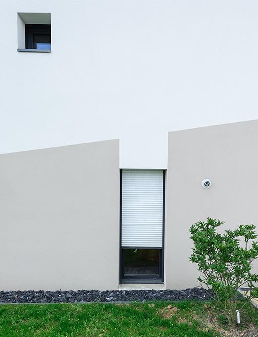 Extérieur - BBC & monomurs - Construction d'une maison labelisée BBC-Effinergie - La Chapelle-sur-Erdre - Archidesigner Associés