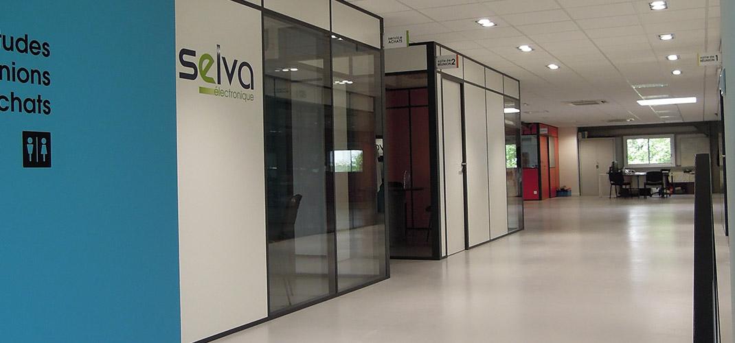 Aménagement d'un plateau de 450 m² - Selva Électronique - Vallet (44)